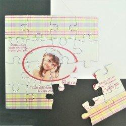 Partecipazione Puzzle con foto