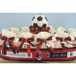 Sacchettini Bomboniera del milan Su stadio da Calcio