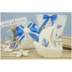 Barca in porcellana di Claraluna