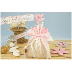 Sacchettini bomboniere rosa con Girandola
