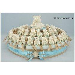 Torta di Bomboniere con orsi in porcellana