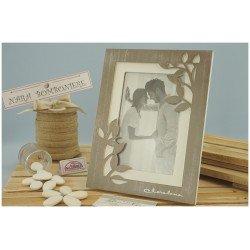 Porta foto con foglie in legno Claraluna Bomboniere