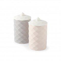 Hervit Bomboniere coppia di contenitori in porcellana