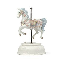 Cavallo Carillon Grande in Porcellana di Hervit 27034