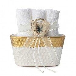 Porta asciughini oro di Hervit Bomboniere 27952