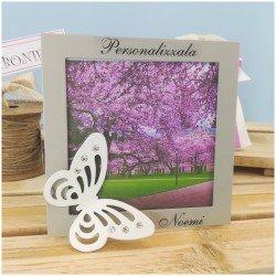 Bomboniera farfalla su portafoto personalizzato