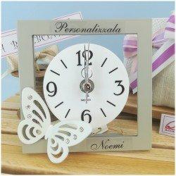 Orologio farfalla personalizzato