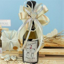 Bomboniere nozze argento mini bottiglie di prosecco