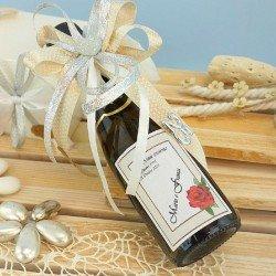 Bomboniere bottiglie di vino per nozze d'argento