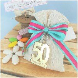 Bomboniere x compleanno 50 personalizzato in plexiglas