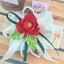 Bomboniera Capodimonte Rosa rossa Piccola