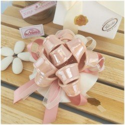 Bomboniere Italiane nodo a nastro color rosa cipria