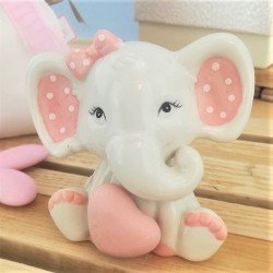Bomboniera elefantino rosa di Claraluna ingrandimento