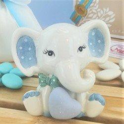 Bomboniera elefantino azzurro di Claraluna ingrandimento