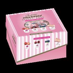 Confetti incartati con scatola Vassoio Rosa sfumati