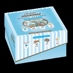Confetti incartati con scatola Vassoio azzurri sfumati