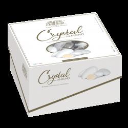 Confetti incartati con scatola Vassoio Mandorla bianca