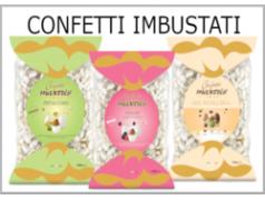 Confetti confezionati singolarmente