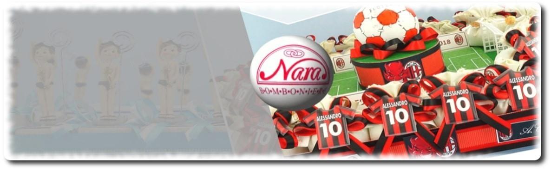 Bomboniere tema calcio juventus,milan